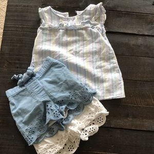 Lot of 3 crown & Ivy tank shorts girls 2T